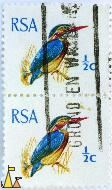 African Pygmy-Kingfisher, RSA, South Africa, stamp, bird, ½ c, Ceyx pictus