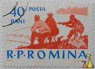 Anglers on the beach, R.P. Romania, Romania, stamp, fishing, angler, 40 Bani, Posta, 1962, UNTCH