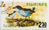 Azure-breasted Pitta, Pilipinas, Philippines, stamp, bird, 2.30 P, Steeres Pitta, Pitta steerii steeri, Sharpe