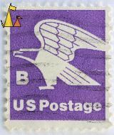 Bald Eagle on Purple, US, USA, stamp, bird, eagle, Haliaeetus leucocephalus, Bald Eagle, US Postage, B, purple
