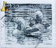 Black-throated Loon Pair, Sverige, Sweden, stamp, bird, duck, swimming, 2.30, L Jonsson, Storlom, Gavia arctica, M Franzen sz