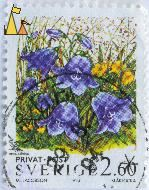 Bluebell, Sverige, Sweden, stamp, privat, post, M Jacobson, 1993, Blåklocka, 2.60, Campanula rotundifolia