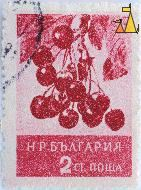 Cherries, Bulgaria, stamp, plant, fruit, tree, Prunus spp, 2 Ct