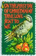 Chukar Partridge, US, USA, stamp, bird, christmas, green, 8 c, Alectoris chukar