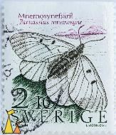 Clouded apollo, Sverige, Sweden, stamp, insect, butterfly, Parnassius mnemosyne, 2.10, Mnemosynefjäril, I Axelsson, L Sjööblom sc