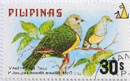 Cream-bellied Fruit-Dove, Pilipinas, Philippines, stamp, bird, 30 s, Merrills Fruit Dove, Ptilinopus merrilli merrilli, McGregor