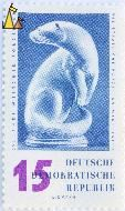 , Deutsche Demokratische Republik, Germany, stamp, art, sculpture, porcelain, 15, Widmann