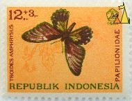 Golden Birdwing, Republik Indonesia, Indonesia, stamp, insect, butterfly, 1963, 13+3, Papilioniade, Troides amphrysus
