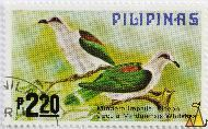 Mindoro Imperial Pigeon, Pilipinas, Philippines, stamp, bird, 2.20 P, Mindoro Imperial Pigeon, Ducula mindorensis, Whitehead