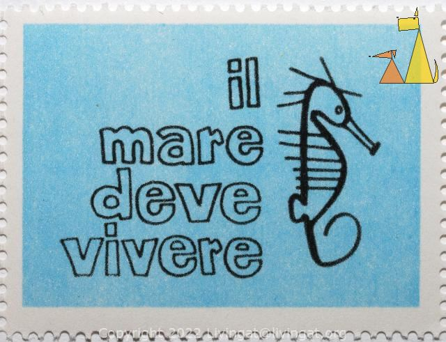 Not a stamp, Italy, stamp, 1978, not a stamp, il mare deve vivere
