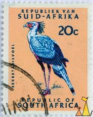 Secretary Bird, Republiek van Suid-Afrika, Republic of South Africa, South Africa, stamp, bird, 20 c, Sekretarisvoel, Sagittarius serpentarius