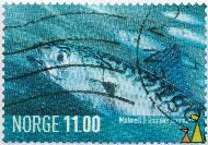 Shoal of Mackerels, Norge, Norway, stamp, fish, portrait, 11.00, 2007, Makrell, Scomber scombrus
