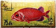 Soldier fish, Umm al Qiwain, UAE, stamp, fish, Umm al Qiwain, 75, dh, Air Mail, Soldier fish
