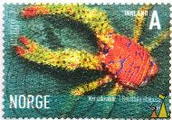 Squat Lobster, Norge, Norway, stamp, shellfish, Innland, A, 2007, crab, Galathea strigosa, lobster, Krinakrabbe