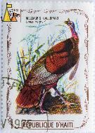 Wild Turkey, Republique D'Haiti, Haiti, stamp, bird, 2.50 Gourdes, Meleagris gallopavo, 1975